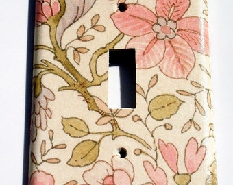 Light Switch Cover Wall Decor Switch Plate in  Ivory Floral (285S)