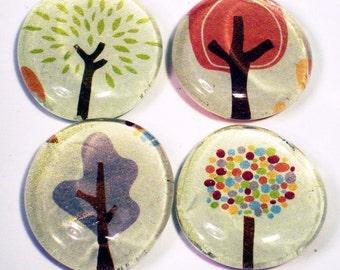 Funky Glass Refrigerator Magnets  in  Grateful Tree Farm   (M01)