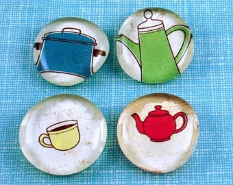 Funky Kitchen Magnets Glass Refrigerator Magnets in Everything but the Kitchen Sink  (M06)