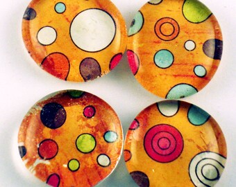 Glass Marble Magnets Kitchen Decor Funky Refrigerator Magnets  in Happy Dance (M36)