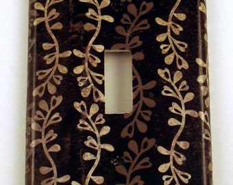 Switch Plate Light Switch Cover Wall Decor  in  Shadow  (193S)