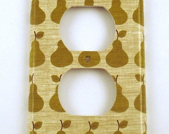 Pear Light Switch Cover Wall Decor  Switch Plate Switchplate  Outlet in  Bosc (137O)