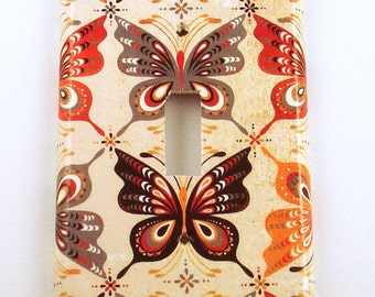 Butterfly Light Switch Cover Wall Decor Switchplate in Mariposa   (805S)