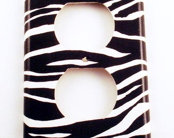 Switch Plate Outlet Cover Light Switch Plate in  Zebra   (086O)