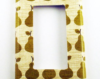 Pear Rocker Light Switch Cover  Wall Decor Switch Plate  in  Bosc  (137R)