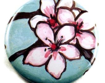 Handmade Pocket Mirror in Watercolor Blossom    (PM44)
