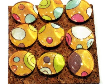 Decorative Funky Push Pins  Thumb Tacks Cork Board Pins  Happy Dance (P36)