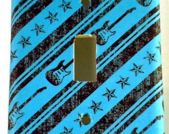 Single Switchplate  Light Switch Cover Wall Decor in  Guitar Hero (155S)