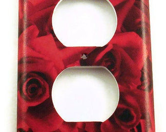 Light Switch Cover  Wall Decor Outlet Plate in Roses are Red (253O)