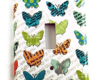 Butterfly Light Switch Cover  Wall Decor Switchplate in  Papillons  (119S)