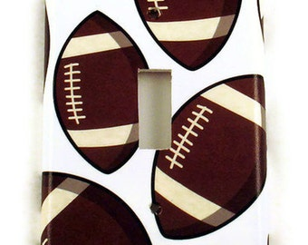 Football Switchplate Light Switch Cover  Sports Wall Decor  Switch Plate  in Touch Down  (159S)