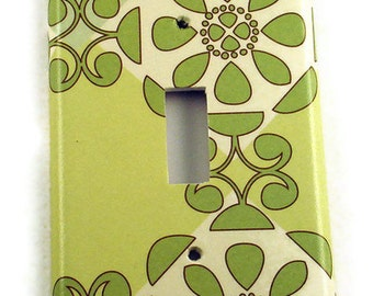 Wall Plates Light Switch Cover Switchplate  Single Switch Plate  in  Eco Chic  (102S)