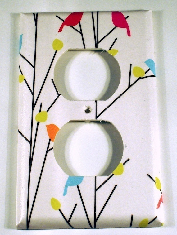 Light Switch Cover  Wall Decor  Switch Plate  Switchplate Outlet  in  Tweets (260O)