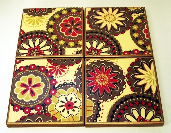 Tile Coaster Set   in  Bistro (Eco Collection)