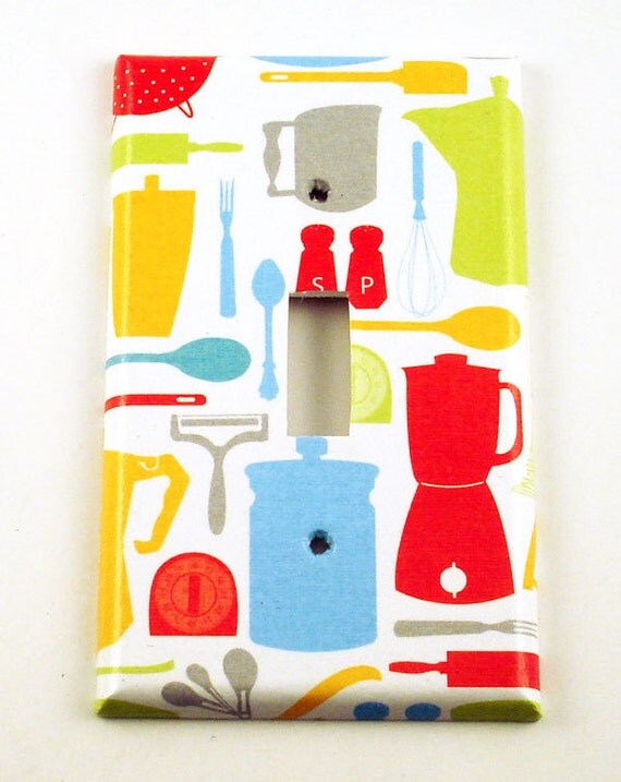 Kitchen Switchplate Wall Decor  Light  Switch Plate Cover  in  Appliances  (124S)