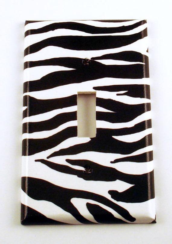 Light Switch Cover Single Switchplate Funky Switch Plate Zebra  (086S)