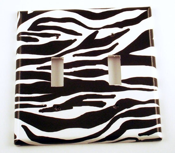 Light Switch Cover  Switchplate   Double Toggle Light Switch Plate in   Zebra  (086D)
