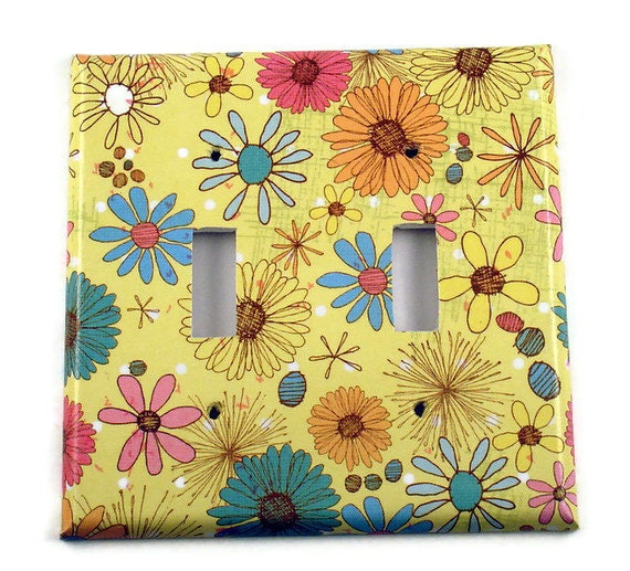 Double Light Switch Cover Wall Decor  Switch Plate Switchplate in  Summertime (220D)