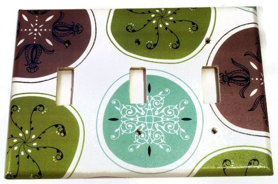 Light Switch Cover Wall Plates  Switch Plate   Triple Switchplate in Sushi Bar   (120T)