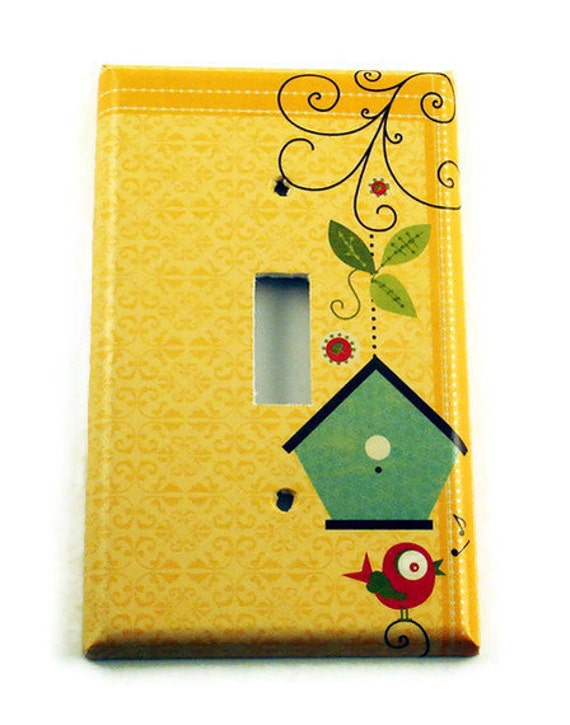 Switchplate Single Light Switch Cover  Switch Plate in  Home Tweet Home (081Sa)