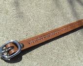 Custom Binary Code Wristband with buckle closure - 3/8 inch wide band