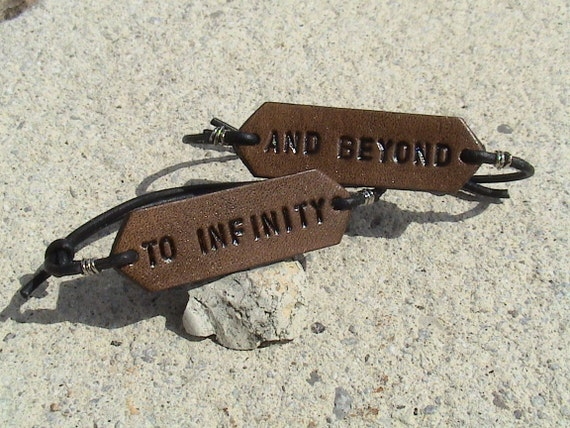His & Hers - To Infinity... and beyond - set of two - adjustable signet wristbands