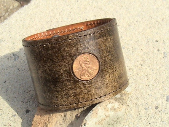 For Your Eyes Only - Lucky Penny - secret message band - 2 inch wide
