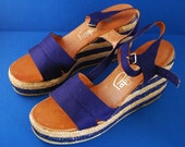 1960s Pappagallo Wedge Espadrilles - New