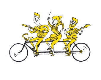Tandem Bike Screen Print
