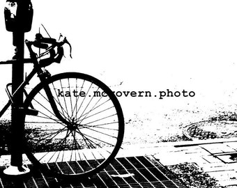 READY TO SHIP: bike in nyc 8x10 matte photo