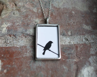 Bird on a Wire Photo Necklace