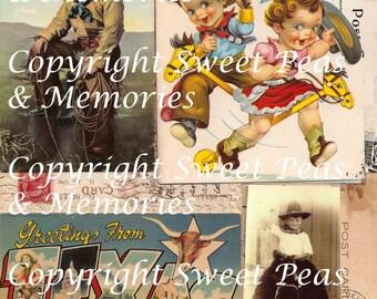 Western Wahoo Digital Collage Sheet