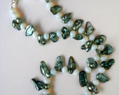 Sea Dream- opalite and mabe pearl necklace SALE