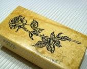 Rose Rubber Stamp Destash Sale  se25