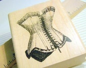 New Corset Rubber Stamp