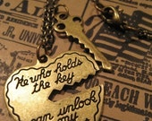 He Who Holds the Key ... Can Unlock My Heart Necklace