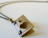 Dear Diary ... I love you -  Book of Love Necklace