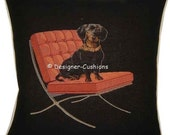Dachshund on a Red Chair Tapestry Cushion Cover Sham