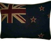 New Zealand Kiwi Flag Woven Tapestry Cushion Pillow Cover