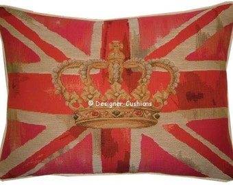 Union Jack Pink Design No 1 Tapestry Cushion Pillow Cover
