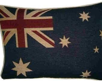 Australian Australia Flag Woven Tapestry Cushion Pillow Cover