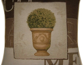 Charme Tree in Pot Design No 2 Tapestry Cushion Cover Sham