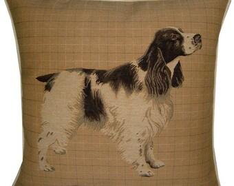 Spaniel Blue Roan Woven Tapestry Cushion Cover Sham