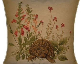 Tortoise Hedgerow Woven Tapestry Cushion Cover Sham