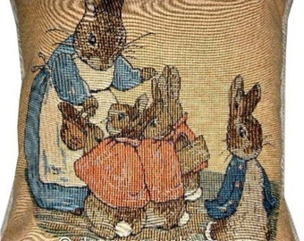 Beatrix Potter Peter Rabbit No 3 Tapestry Cushion Cover Sham Pillow