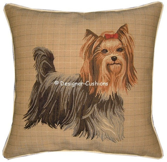 Yorkie Yorkshire Terrier Standing Tapestry Cushion Sham