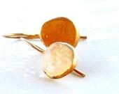 RESERVED FOR JANEB ONLY Handmade Organic golden earrings