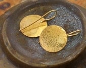 Gold discs  earrings