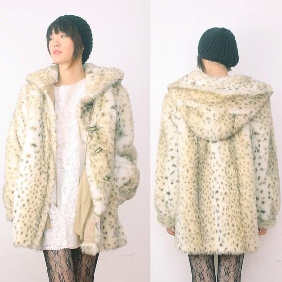 Gorgeous White FAUX Fur Coat