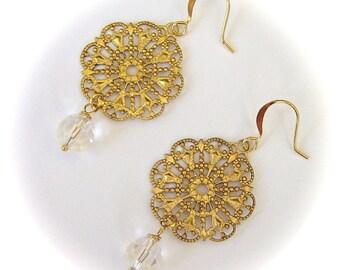 Julia Juliette Dangle Earrings Bridal Wedding Jewelry